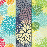 Floral seamless patterns Stock Photos