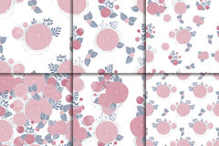 Floral seamless patterns Royalty Free Stock Photos