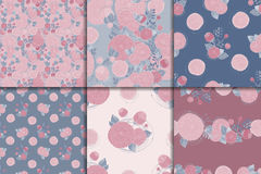 Floral seamless patterns Stock Image