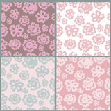 Floral seamless patterns collection Royalty Free Stock Image