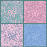 Floral seamless patterns collection Royalty Free Stock Images