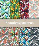Floral Seamless Patterns Set Stock Photo