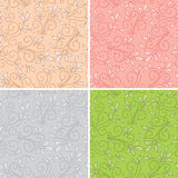 Floral seamless patterns - vector backgrounds royalty free illustration