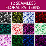 Floral seamless patterns. Floral vector seamless patterns. Ornate texture with flowers can be used for wallpaper, pattern fills, web page background,surface Royalty Free Stock Photos
