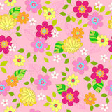 Floral Seamless Repeat Pattern Vector Illustration Stock Photo