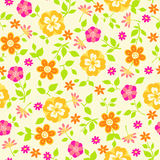 Floral Seamless Repeat Pattern Vector Illustration. Spring Flowers and Vines Seamless Repeat Pattern Vector Illustration eps Stock Photos
