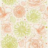 Floral seamless retro pattern Royalty Free Stock Photo