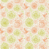 Floral seamless retro pattern Royalty Free Stock Photos