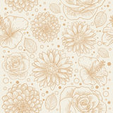 Floral seamless retro pattern Stock Photos