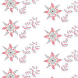 Floral seamless retro pattern and seamless pattern in swatch men Royalty Free Stock Image