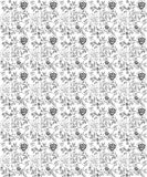 Floral seamless roses pattern vector illustration