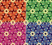 Floral seamless set(vector, CMYK) Royalty Free Stock Image