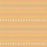 Floral Seamless Strip Pattern Royalty Free Stock Photography