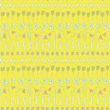 Floral Seamless Strips Pattern Stock Images