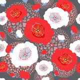 Floral seamless summer pattern Royalty Free Stock Images