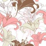 Floral seamless texture. Stock Photo