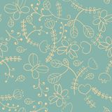 Floral seamless texture Stock Photography