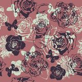 Floral seamless texture Stock Image