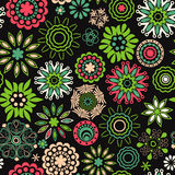 floral seamless texture, endless pattern with flowers looks lik Stock Images