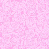 Floral seamless texture with roses. Royalty Free Stock Photos