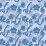 Floral seamless texture with tulips Royalty Free Stock Photo