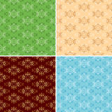 Floral seamless textures for backgrounds - eps Stock Photos
