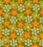Floral seamless tiled pattern Stock Photography