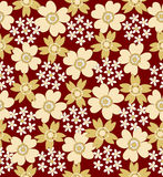 Floral seamless tiled pattern Royalty Free Stock Images