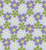 Floral seamless tiled pattern Royalty Free Stock Image