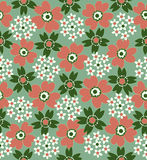Floral seamless tiled pattern Stock Image