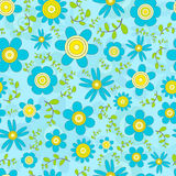 Floral seamless vector background Stock Photos