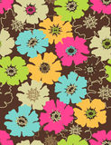 Floral seamless vector pattern. Floral seamless pattern with styled flowers Stock Image
