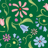 Floral seamless vector pattern. Stock Photography