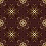 Floral Seamless Vector Pattern. Orient Abstract Stock Photos