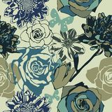 Floral seamless vector Stock Images