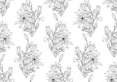Floral seamless vector wallpaper Royalty Free Stock Photography