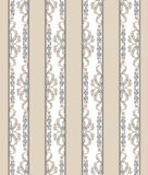 Floral seamless vintage background. Striped retro texture. Royalty Free Stock Images