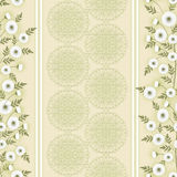 Floral seamless vintage pattern.Stylized silhouettes of flowers and a branch on a beige background Royalty Free Stock Photos