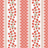 Floral seamless vintage pattern.Stylized silhouettes of flowers and a branch on a white background Royalty Free Stock Image