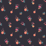 Floral Seamless Vintage Wildflowers Pattern Stock Photography