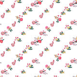 Floral Seamless Vintage Wildflowers Pattern Royalty Free Stock Photos