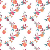 Floral Seamless Vintage Wildflowers Pattern Royalty Free Stock Photo