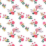 Floral Seamless Vintage Wildflowers Pattern Stock Images