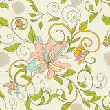 Floral seamless wallpaper. Universal template for greeting card, web page, background Royalty Free Stock Photography