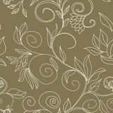 Floral seamless wallpaper stock photography