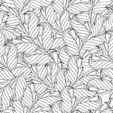 Floral seamless wallpaper. Universal template for greeting card, web page, backgroun Stock Image