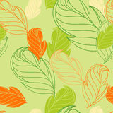 Floral seamless wallpaper. With spring foliage Stock Photo