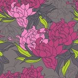Floral seamless wallpaper. With decorative flowers Royalty Free Stock Photo
