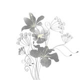 Floral seamless wallpaper. Universal template for greeting card, web page, background Stock Photo