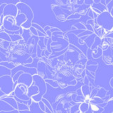 Floral seamless wallpaper Royalty Free Stock Images
